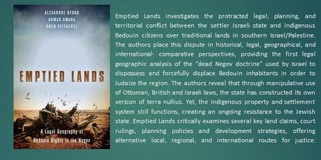 Book Launch:  Emptied Lands: A Legal Geography of Bedouin Rights tickets