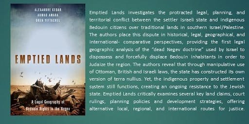 Book Launch:  Emptied Lands: A Legal Geography of Bedouin Rights