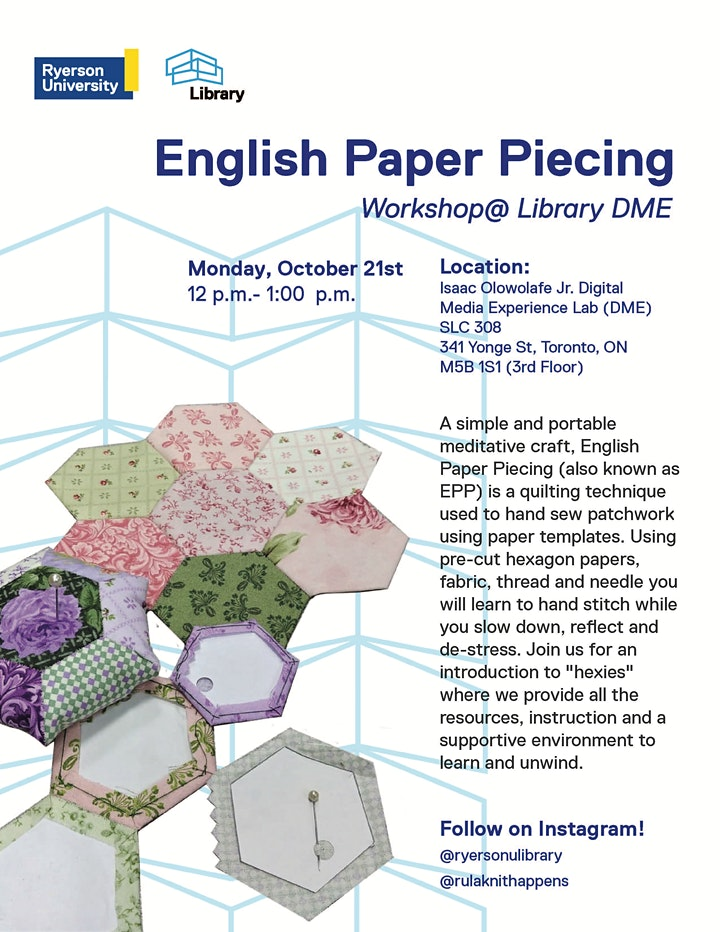 English Paper Piecing Workshop image
