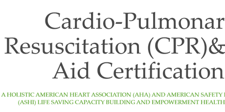 CPR & First Aid Certification tickets