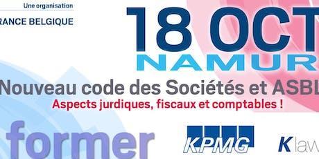 Se former : Le nouveau code des sociétés et des associations en Belgique billets