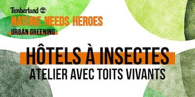 Atelier Hôtels à Insectes avec Toits Vivants