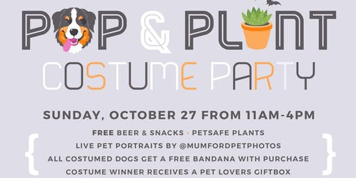 Pup & Plant Halloween Costume Party Photo Pop Up
