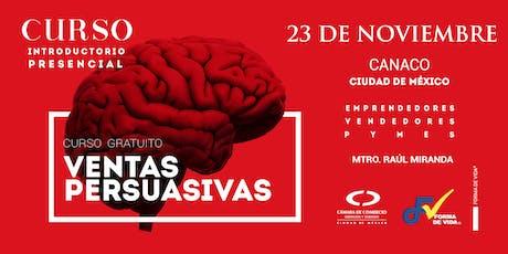 """Curso Introductorio """"Ventas Persuasivas"""" 23 de Noviembre boletos"""