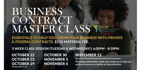 Business Contract and Procurement Master Class tickets
