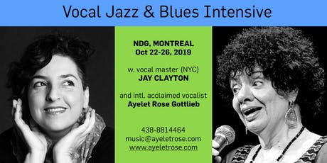 Jay Clayton & Ayelet Rose - Jazz and Blues Intensive! tickets