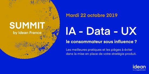 Summit Idean France - How can data help personalize the user experience ?