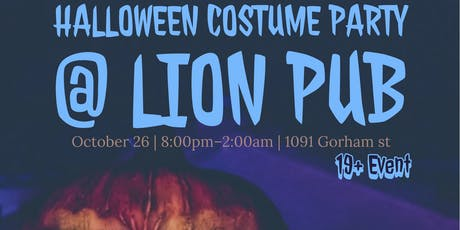 Halloween Costume Party @ Lion Pub & Grill tickets