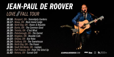 Jean-Paul de Roover live at C'est What?! tickets