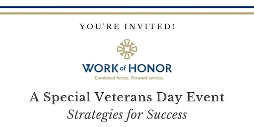 Work of Honor - Special Veterans Day Event