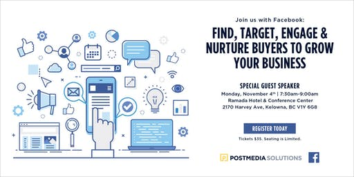 Facebook & Instagram: Find, Target, Engage and Nurture buyers to grow your business - Kelowna