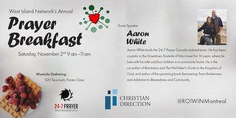 West Island Network Annual Prayer Breakfast billets