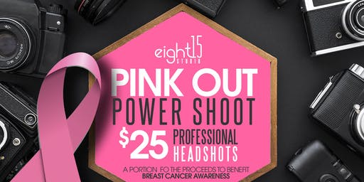 Pink Out Headshots