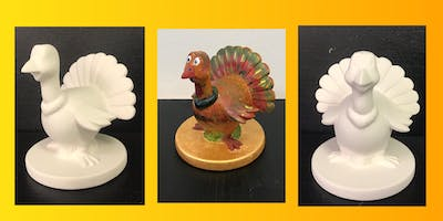 "Open Paint & Go Ceramic Painting (5yrs+) ""The Gobbler"""