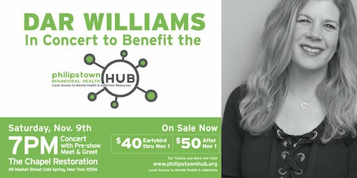 DAR WILLIAMS PHILIPSTOWN BEHAVIORAL HEALTH HUB BENEFIT CONCERT