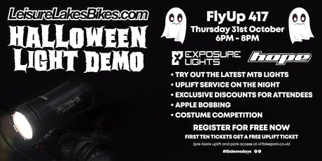 Halloween Light Demo - Leisure Lakes Bikes Flyup 417 tickets