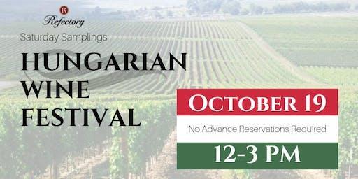 Saturday Samplings:Hungarian Wine Festival