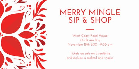 Merry Mingle Sip  & Shop tickets