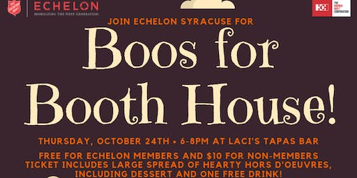 Boos for Booth House at Laci's Tapas Bar