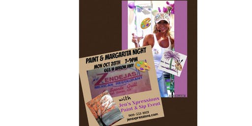 Paint & Sip Night with Jen's Xpressions at Zendejas San Dimas