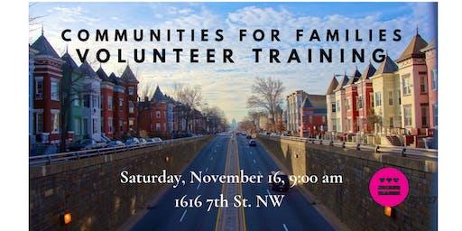 Communities for Families Volunteer Training - November
