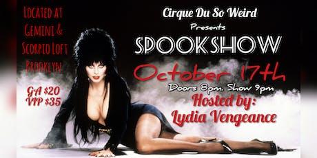 Cirque Du So Weird: Spookshow tickets