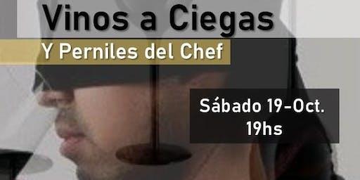 Vinos a ciegas y Perniles del Chef