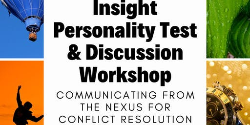 Insight Personality Test and Discussion Workshop