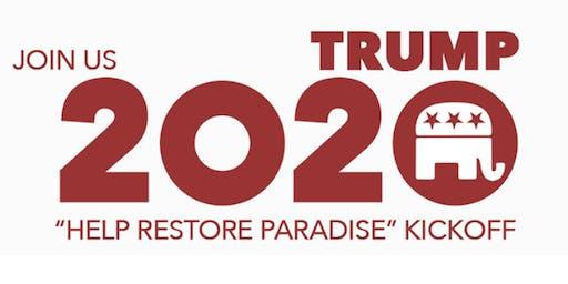"Trump 2020 ""Help Restore Paradise"" Kickoff in Hilo, Hawaii"