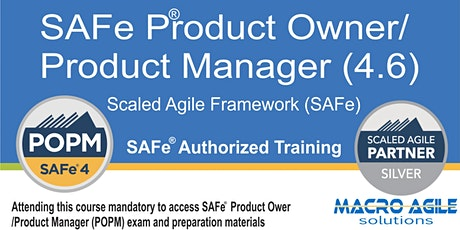 SAFe® Product Owner/Product Manager- (Scaled Agile Framework) Training tickets