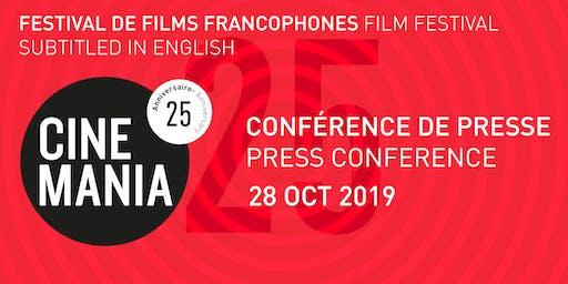 Conférence de presse - 25ème édition du Festival de films CINEMANIA