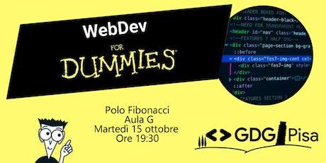 WebDev for Dummies biglietti