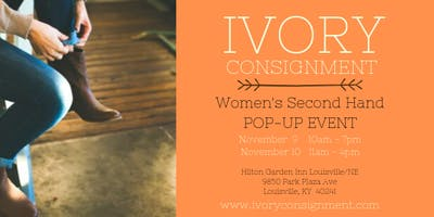 Copy of IVORY CONSIGNMENT - Women's Second Hand POP-UP EVENT
