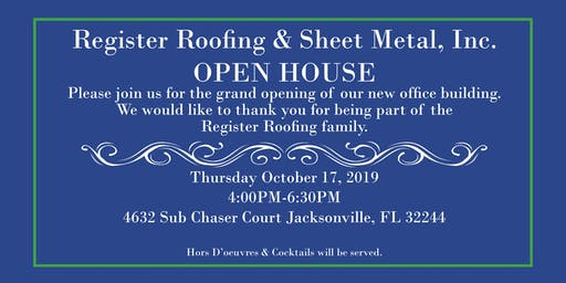 Register Roofing & Sheet Metal's Open House