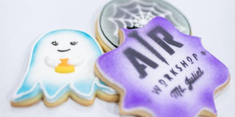 Halloween Cookie Decorating Party and AR Workshop Halloween Trick or Treat Bag or a Boo Door Hanger tickets