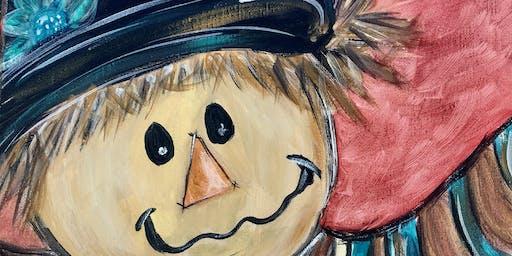 Pizza n Paint - Happy Scarecrow