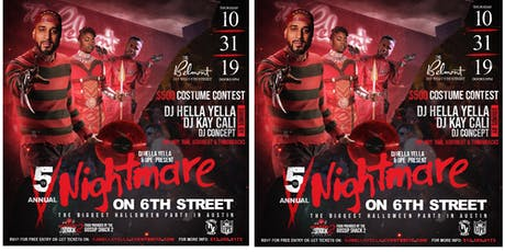 5th Annual Nightmare on 6th Street & $500 Costume Contest tickets