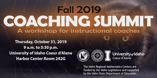 Mathematics Coaching Summit, Coeur d'Alene, ID,  Thursday, 10/31/19