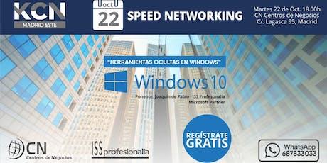 "Speed Networking: ""Herramientas ocultas en Windows"" tickets"
