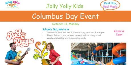 Columbus Day Music & Play Event - Jolly Yolly Kids tickets