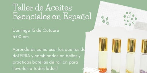 DIY  Essential Oils Workshop in Spanish