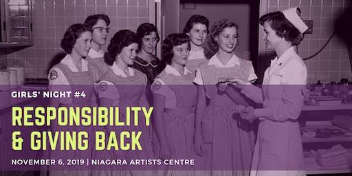 Girls' Night #4: Responsibility & Giving Back