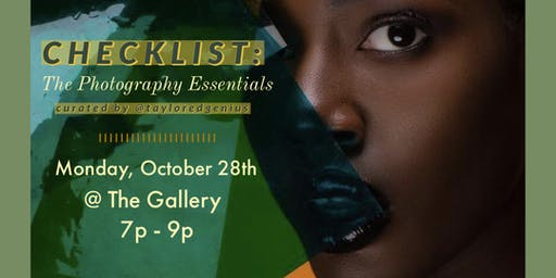 Checklist: The Photography Essentials