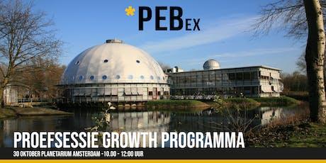 Proefsessie PEBex Growth programma tickets