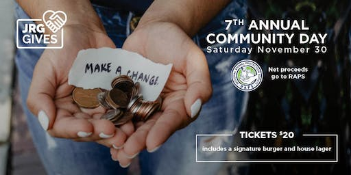 7th Annual Community Day at The Buck & Ear Bar and Grill for RAPS