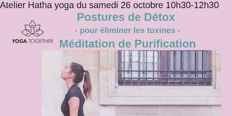 Atelier Yoga et Méditation Détox et Purification à Toulouse Pouvourville billets