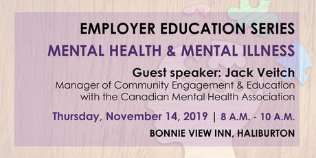 Employer Education Series-Mental Health & Mental Illness Info Session tickets