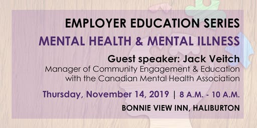 Employer Education Series-Mental Health & Mental Illness Info Session