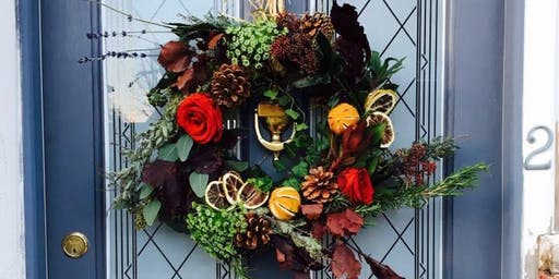 (SOLD OUT) Winter Wreath Making Workshop - The George Payne Pub. Hove.