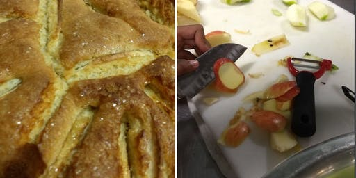 Kids Fall Baking with Food For Thought Kitchen--German Apple Cake